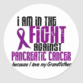 In The Fight Against Pancreatic Cancer GRANDFATHER Stickers