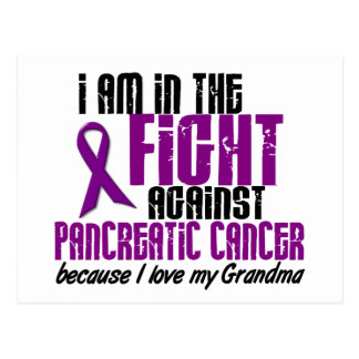 In The Fight Against Pancreatic Cancer GRANDMA Postcard
