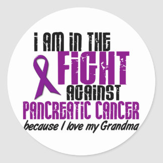 In The Fight Against Pancreatic Cancer GRANDMA Stickers