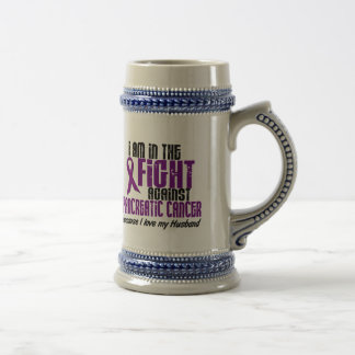 In The Fight Against Pancreatic Cancer HUSBAND Coffee Mugs