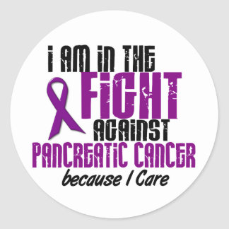 In The Fight Against Pancreatic Cancer I CARE Stickers