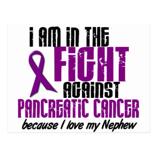 In The Fight Against Pancreatic Cancer NEPHEW Postcard