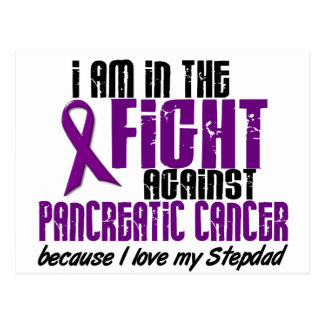 In The Fight Against Pancreatic Cancer STEPDAD Postcard