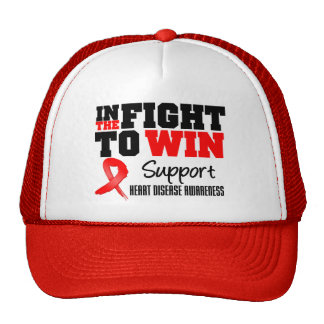 In The Fight For The Cure Heart Disease Trucker Hat