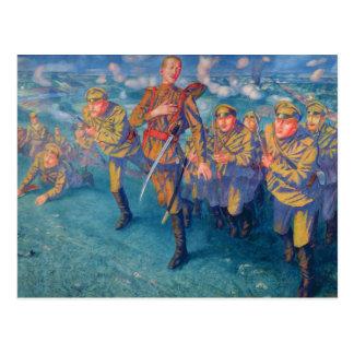 In the Firing Line, 1916 Postcard