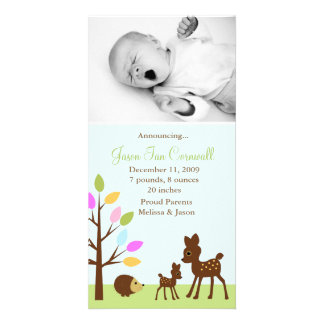 """""""In the forest""""  Birth Announcements Photo Card"""