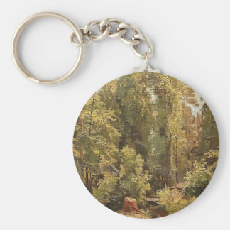 In the Forest by Giuseppe de Nittis Key Chain