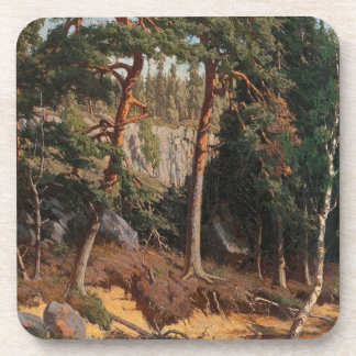 """In The Forest"" coasters"