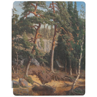 """In The Forest"" custom monogram device covers iPad Cover"