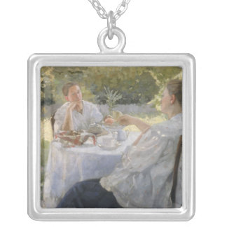 In the Garden, 1911 Silver Plated Necklace