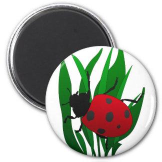 In the garden 6 cm round magnet