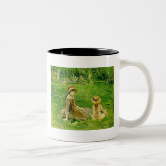 In the Garden At Maurecourt Berthe Morisot Two-Tone Coffee Mug