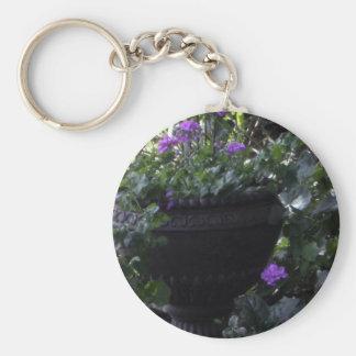 In the Garden Basic Round Button Key Ring