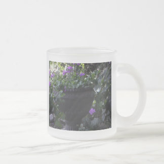 In the Garden Frosted Glass Mug