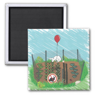 In The Garden of Earthly Delights Square Magnet