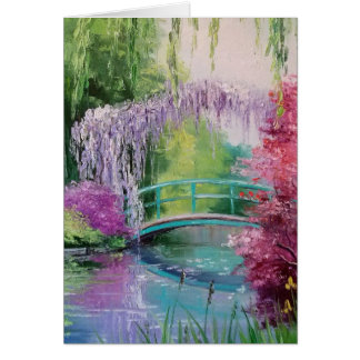 in the garden of Monet Greeting Card