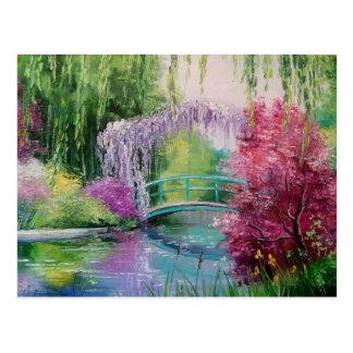 in the garden of Monet Postcard