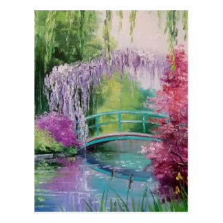 in the garden of Monet Postcard