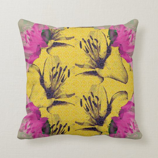 """In The Garden"" Printed Throw Cushion"