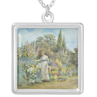 In the Garden Silver Plated Necklace