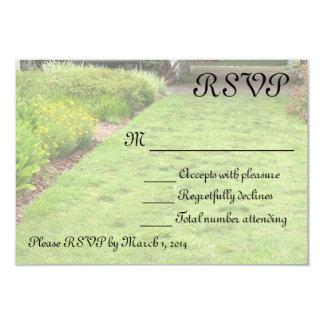 In the Garden theme 9 Cm X 13 Cm Invitation Card