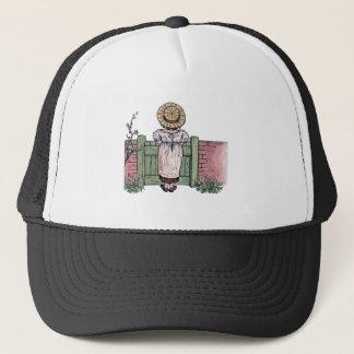 In The Garden - Vintage Woman Illustration Trucker Hat