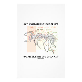 In The Greater Scheme Of Life Live Life Of An Ant Customised Stationery