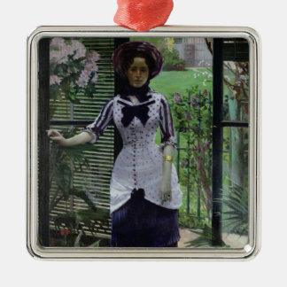 In the Greenhouse, 1881 Christmas Ornament