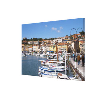 In the harbour in Cassis village. Fishing and Canvas Print