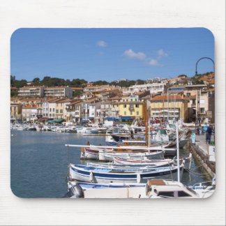 In the harbour in Cassis village. Fishing and Mouse Mat