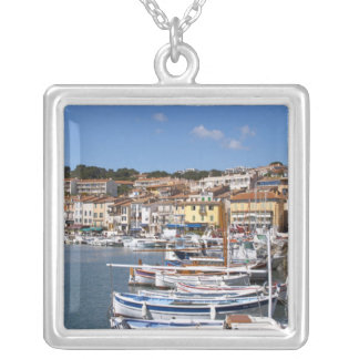 In the harbour in Cassis village. Fishing and Silver Plated Necklace