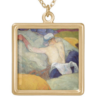 In the Heat, or The Pigs, 1888 Gold Plated Necklace