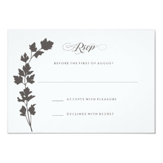 In the Herb Garden Wedding Response Card RSVP 9 Cm X 13 Cm Invitation Card