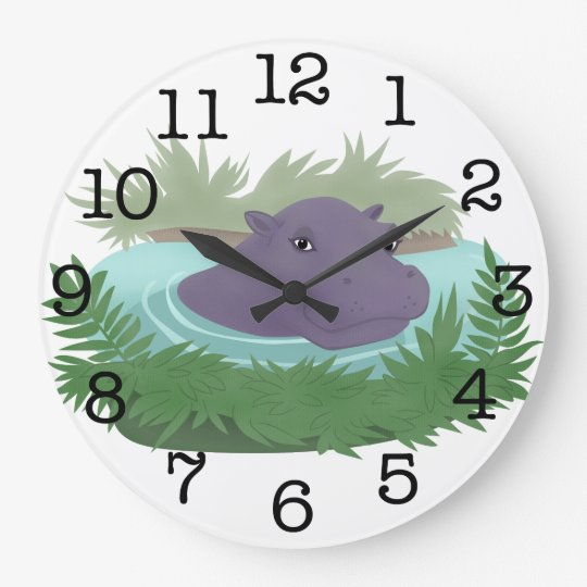 In the Hippo Pond Large Clock