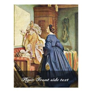 In The House Of The Artist By Schwind Moritz Von 21.5 Cm X 28 Cm Flyer