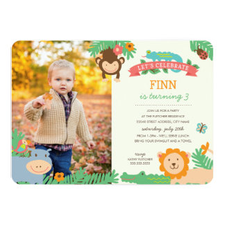 Shop Zazzle's selection of animal birthday invitations for your party!