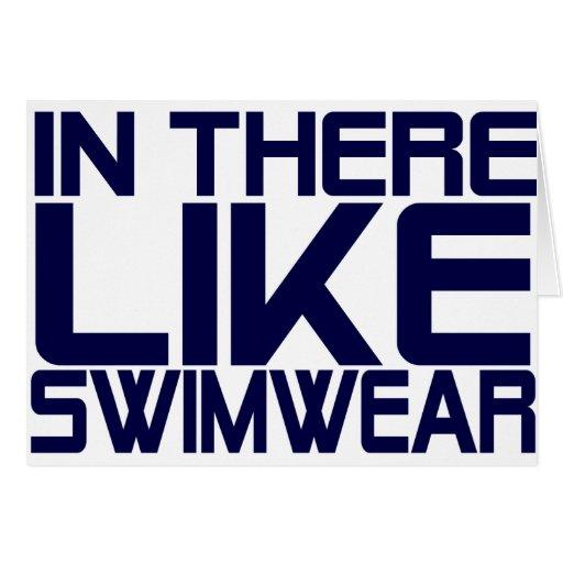 In The Like Swimwear Greeting Card