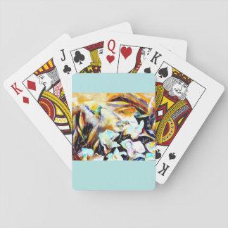 """In the Lilies"" Hummingbird Print Poker Deck"