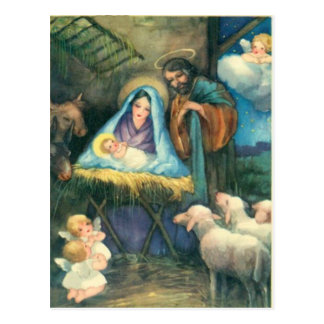 In The Manger Postcard