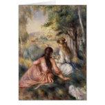 In the Meadow by Pierre-Auguste Renoir Greeting Cards