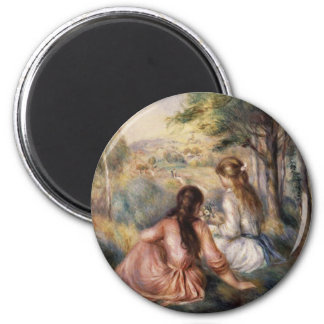 In the Meadow by Pierre-Auguste Renoir Magnet