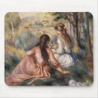 In the Meadow by Pierre-Auguste Renoir Mouse Mat