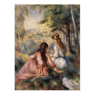 In the Meadow by Pierre-Auguste Renoir Postcard