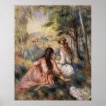 In the Meadow ~ Pierre-Auguste Renoir Poster