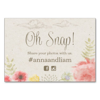 In the Meadow Summer Wedding social media Card Table Card