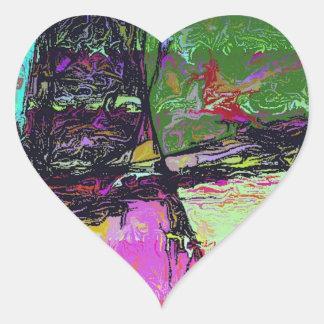 In the Mirror Heart Sticker