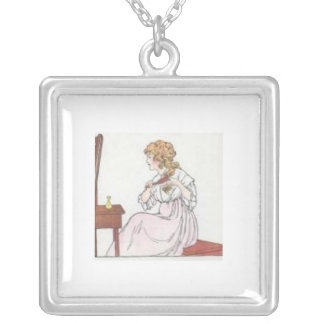 In The Mirror Square Pendant Necklace