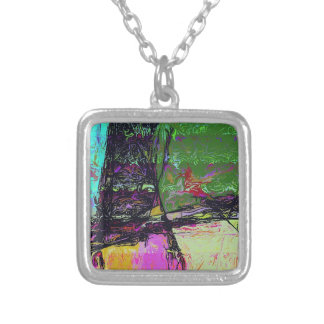 In the Mirror Silver Plated Necklace