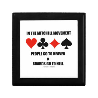In The Mitchell Movement People Go To Heaven Hell Small Square Gift Box