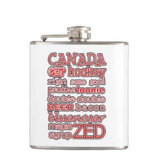 In The Mix Canada Day Flask